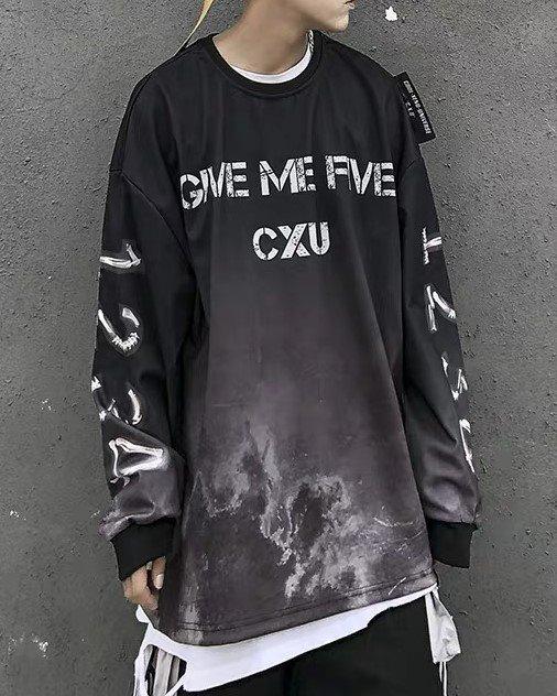 スカルハンド5ロングTシャツの画像3